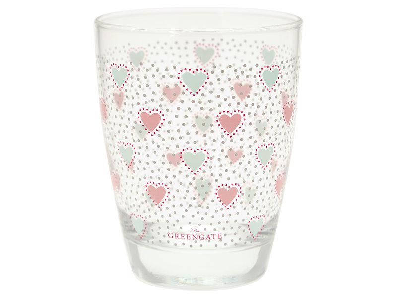 "GreenGate Wasserglas ""Penny white"""