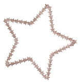 GreenGate Star hanging glitter w/stars large