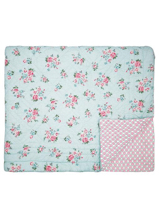 "GreenGate Quilt ""Sonia pale blue"" 140x220cm"