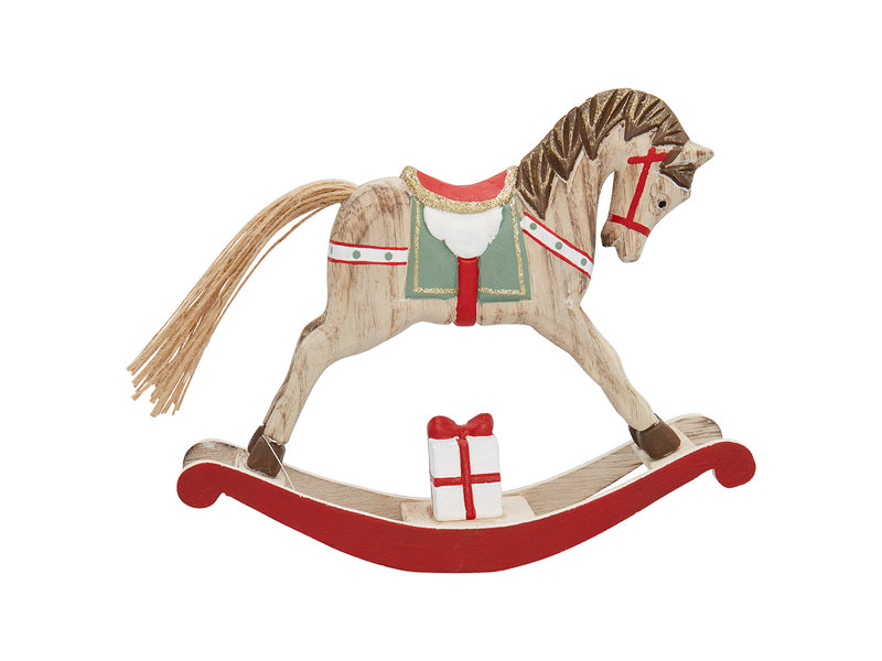 GreenGate Decoration rocking horse red large