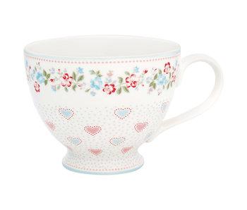 """GreenGate Teacup """"Sonia white"""""""