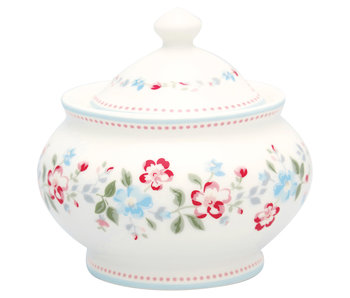 "GreenGate Zuckerdose ""Sugar pot round Sonia white"""