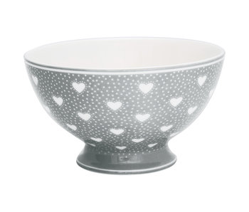 "GreenGate Suppenschale ""Soup bowl Penny grey"""