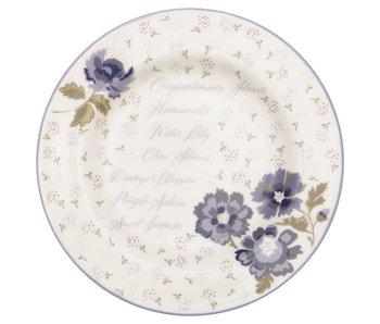 "GreenGate Kuchenteller ""Small plate Beatrice white"" 15 cm"