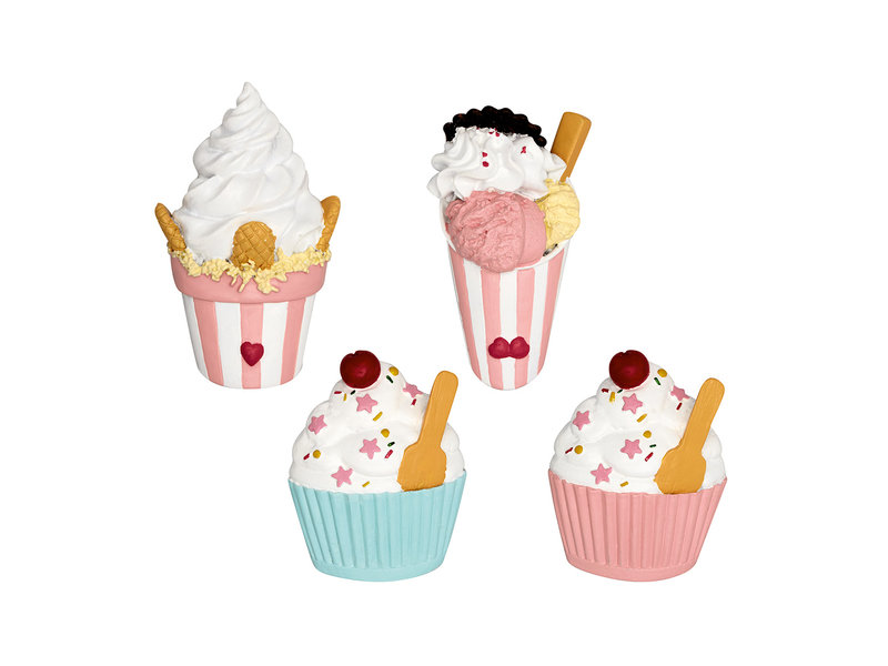 GreenGate Magnet Ice cream pastel mix set of 4