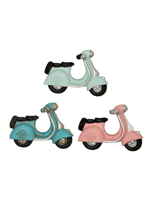 GreenGate Magnet Scooter pastel mix set of 3