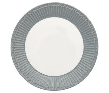 "GreenGate Frühstücksteller ""Plate Alice"" stone grey"