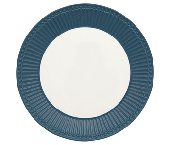 """GreenGate Frühstücksteller """"Plate Alice"""" ocean blue"""