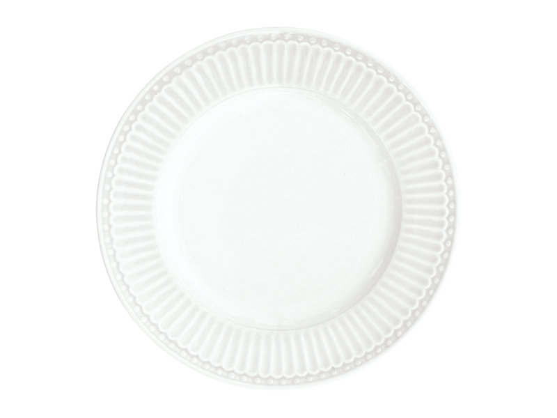 "GreenGate Kuchenteller ""Plate small Alice"" white"