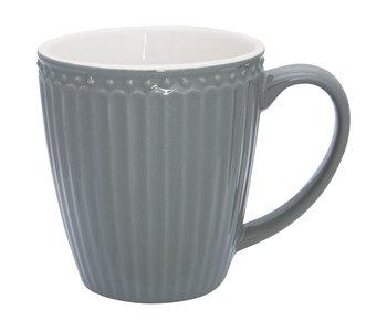 "GreenGate Henkelbecher Mug ""Alice"" stone grey"
