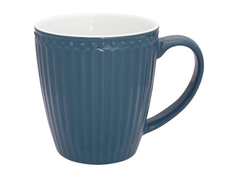"""GreenGate Henkelbecher Mug """"Alice"""" ocean blue"""