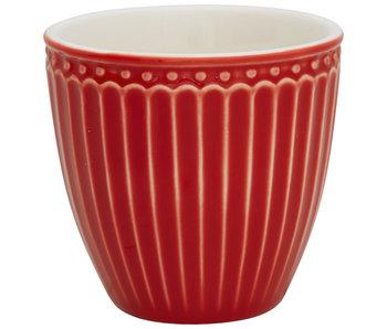"GreenGate Mini Latte cup ""Alice"" red"