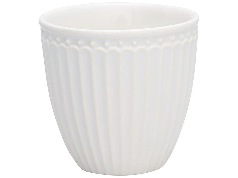 """GreenGate Mini Latte cup """"Alice"""" white"""