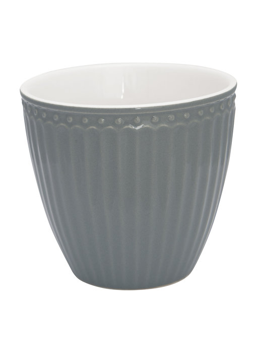"""GreenGate Becher """"Latte cup Alice"""" stone grey"""