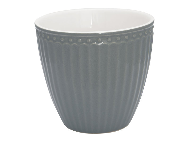 "GreenGate Becher ""Latte cup Alice"" stone grey"