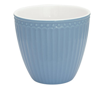 "GreenGate Becher ""Latte cup Alice"" sky blue"