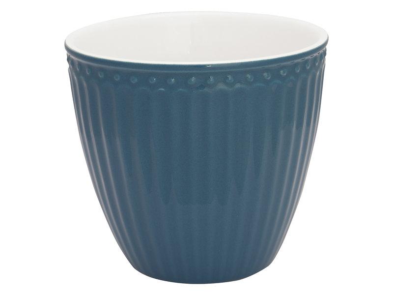 "GreenGate Becher ""Latte cup Alice"" ocean blue"