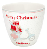 """GreenGate Latte Cup """"Scooter white"""""""