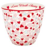 "GreenGate Latte Cup ""Love white"""
