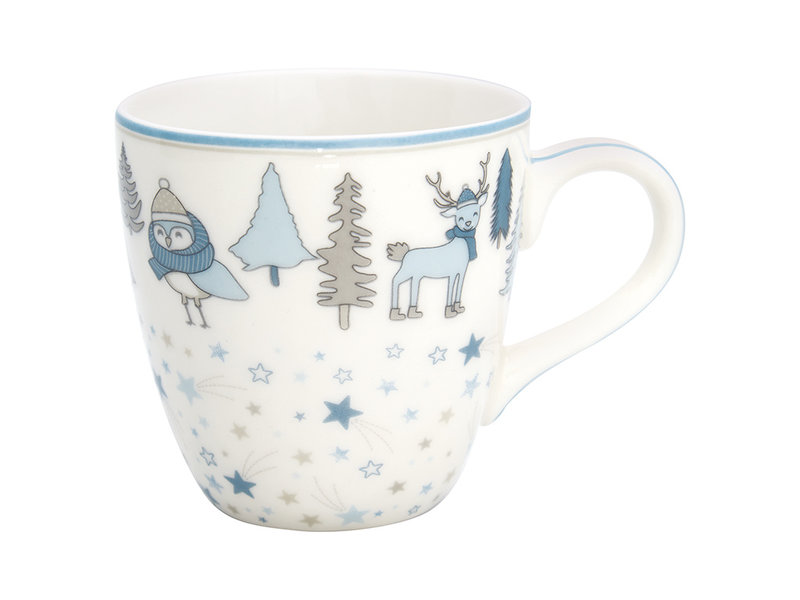 "GreenGate Kinder Becher ""Kids mug Forrest"" pale blue"