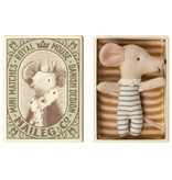 Maileg Baby mouse, Sleepy/wakey in box, Boy
