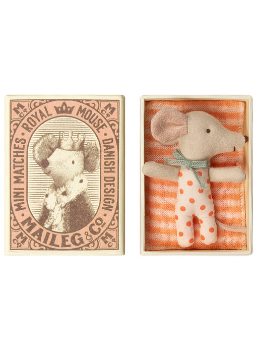 Maileg Baby mouse, Sleepy/wakey in box, Girl