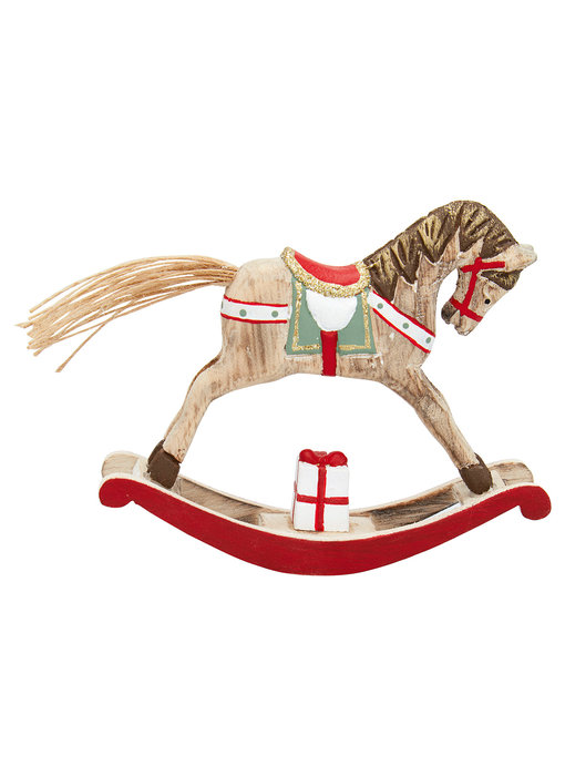 GreenGate Decoration rocking horse red small