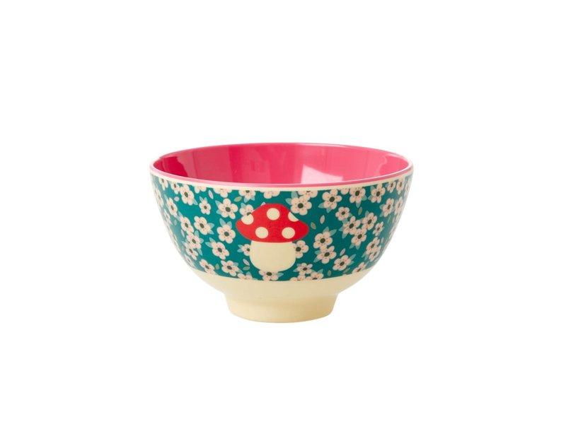 "rice dk Small Melamine Bowl ""Mushroom"" 2020 XMas Print"