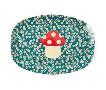 "rice dk Melamine Teller ""Mushroom"" Servierplatte"