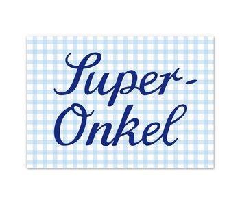 "krima & isa Postkarte ""Super-Onkel"""