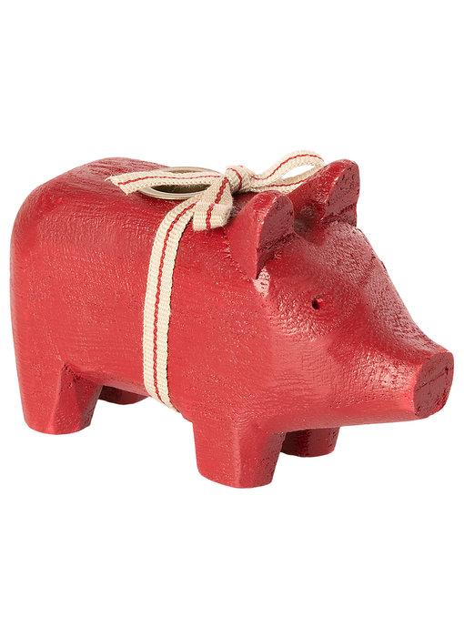 """Maileg Kerzenständer """"Schwein"""" rot, klein"""