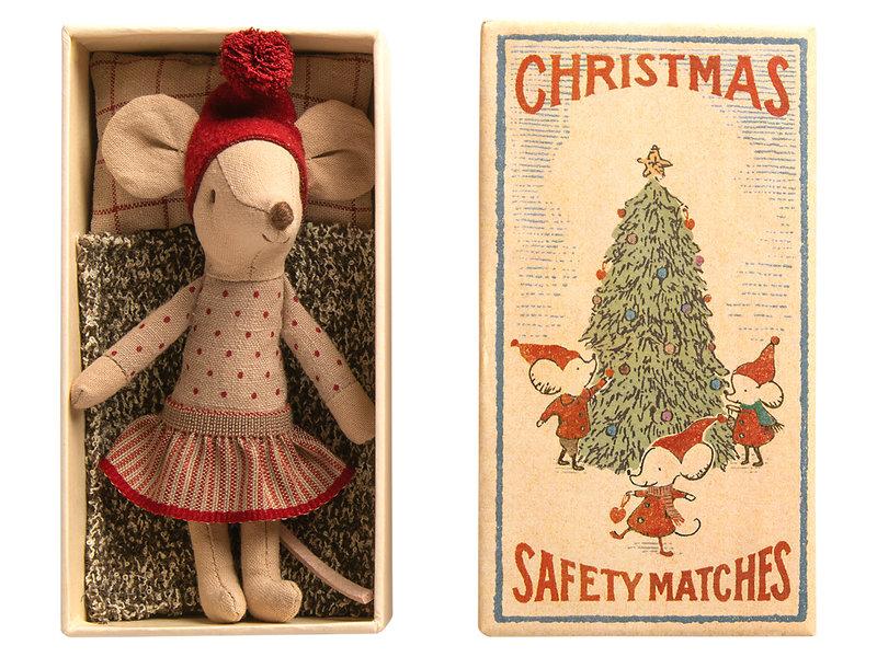 """Maileg """"Weihnachtsmaus"""" im Buch, große Schwester"""