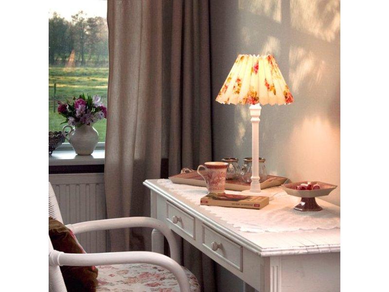 Nordika Lampenschirm weiß mit Blüten