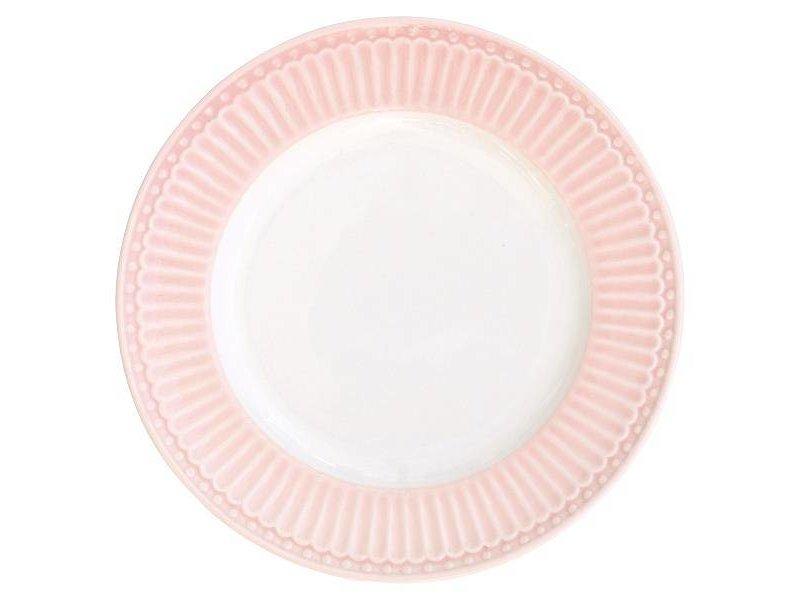 """GreenGate Kuchenteller """"Plate small Alice"""" pale pink"""
