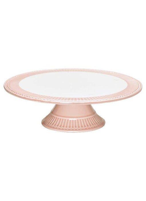 """GreenGate Kuchenplatte """"Cake plate Alice"""" pale pink"""