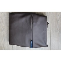 Hoes hondenbed chocolade bruin leather look small