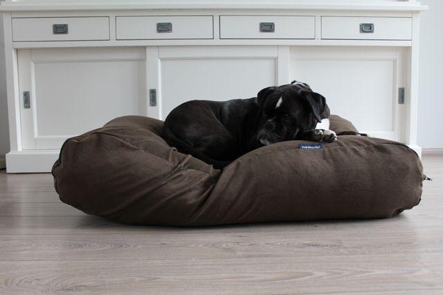 Dog's Companion® Hondenbed natuurlijk bruin ribcord extra small