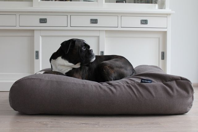 Dog's Companion® Hondenbed taupe meubelstof large