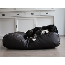 Hondenbed chocolade bruin leather look extra small
