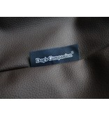 Dog's Companion® Hoes hondenbed chocolade bruin leather look small