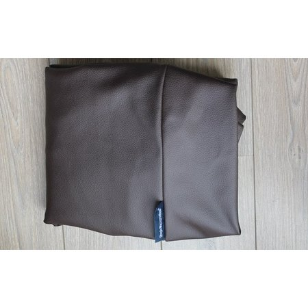 Dog's Companion® Hondenbed chocolade bruin leather look superlarge