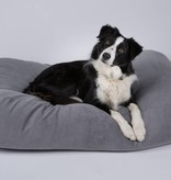 Dog's Companion® Hondenbed muisgrijs ribcord small