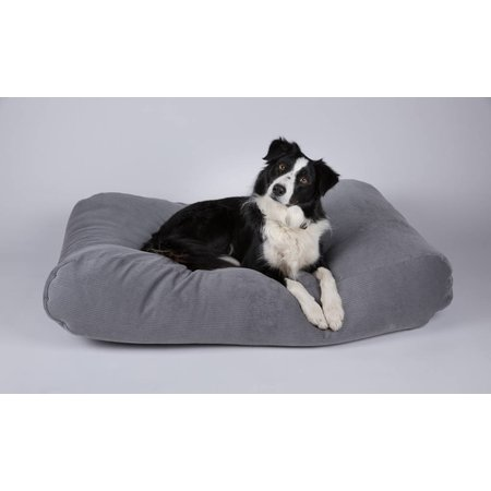 Dog's Companion® Hondenbed muisgrijs ribcord large
