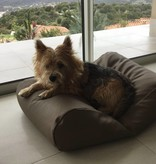 Dog's Companion® Hondenbed Taupe leather look large