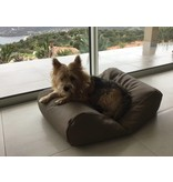 Dog's Companion® Hondenbed taupe leather look superlarge