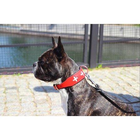 Leren hondenhalsband Swiss