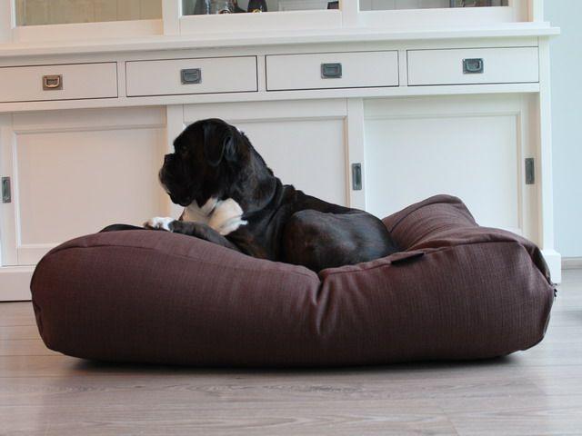 Dog's Companion® Hondenbed chocolade bruin (meubelstof) Extra Small