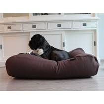 Hondenbed chocolade bruin (meubelstof) Medium