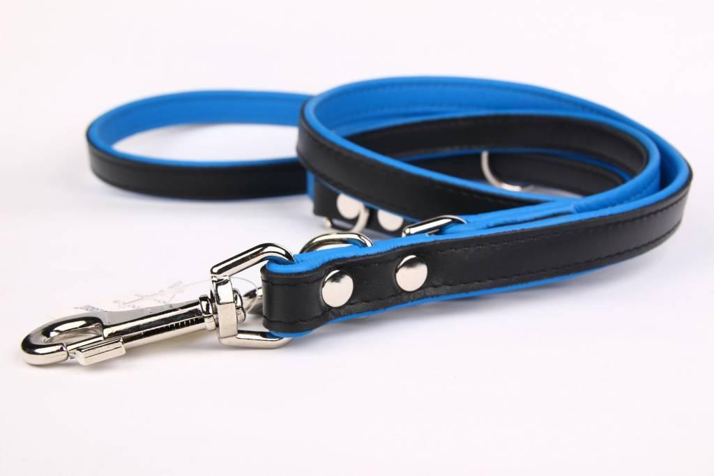 Leren hondenriem 220 cm (verstelbaar, soft/duo)