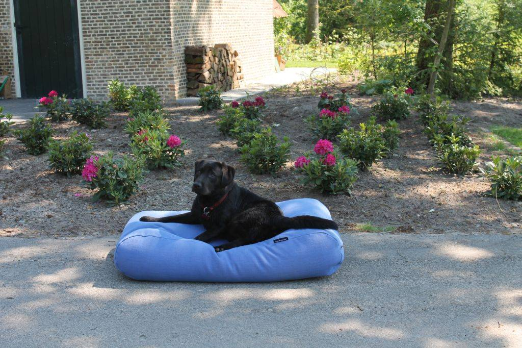 Dog's Companion® Hondenbed manhattan blue linnen